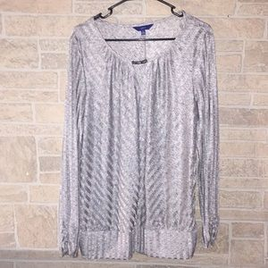 Apt 9 Gray Patterned Blouse